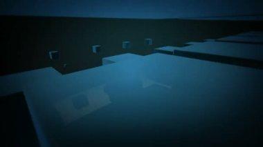 Moving blue boxes — 图库视频影像