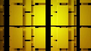 Moving yellow rectangles — Stock Video