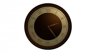 Vintage wall clock animation — Stock Video