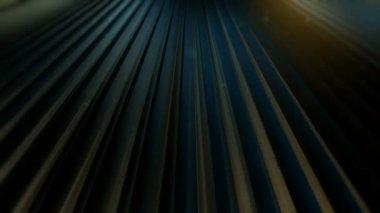 Moving dark planks — Stock Video
