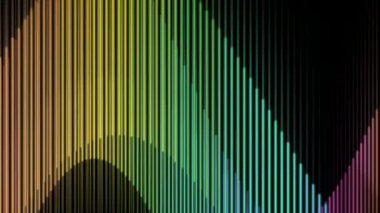 Moving colored wave lines — Stock Video