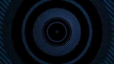 Moving striped blue circles — Stockvideo