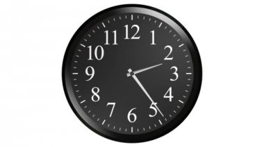 Black wall clock animation — Stock Video
