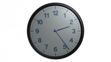 Gray wall clock animation — Stock Video