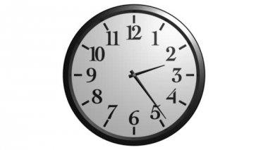 Wall clock animation — Stock Video