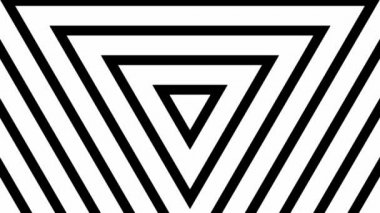 Moving white and black triangles — Stock Video