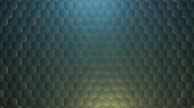 Moving metal hexagons — Stock Video