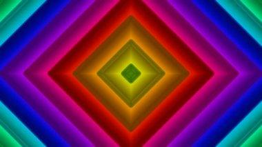 Bunte Quadrate bewegen — Stockvideo