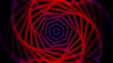 Moving hexagon twirl — Stock Video