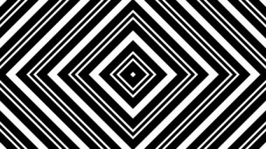 Moving black and white rhombuses — Stock Video