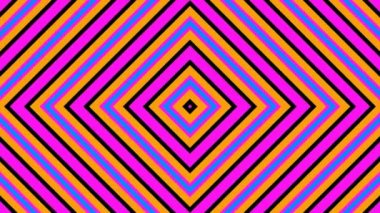 Moving retro colorful rhombuses — Stock Video
