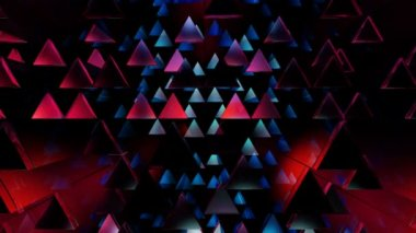 Movingcolorful triangles — Stock Video