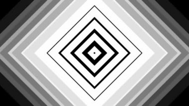 Moving black and white squares — Stock Video