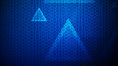 Disappearing blue triangles — Stock Video