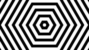 Moving white and black hexagons — Stock Video