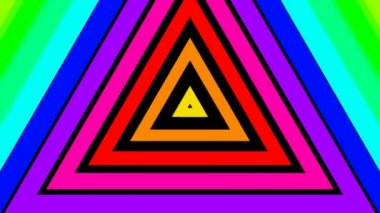 Moving rainbow triangles — Stock Video