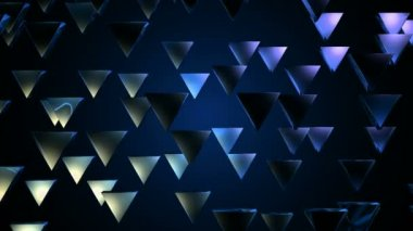Moving blue triangles — Stock Video
