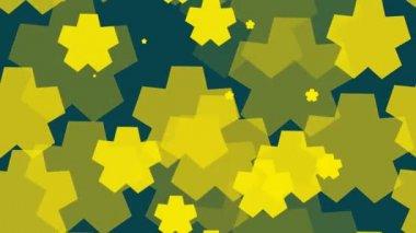 Yellow geometrical background — Stock Video