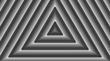 Moving monochrome triangles — Stock Video