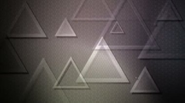 Glowing grayscale triangles — Stock Video