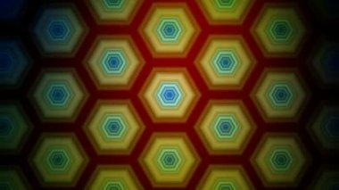 Hexagonal Pattern Background — Stock Video