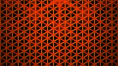 Moving orange triangle grid — Stock Video