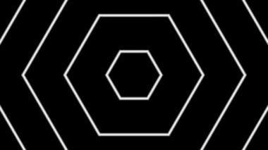Moving white hexagons — Stock Video