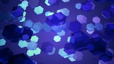 Glowing blue hexagons — Stock Video