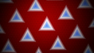 Moving tile of triangles — Stock Video