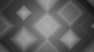 Grayscale grid of rhombuses — Stock Video