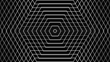 Moving white hexagonal lines — Stock Video