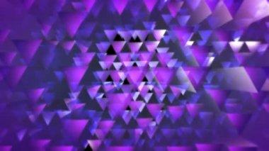 Kolorowe trójkąty w ruchu — Wideo stockowe