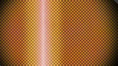 Waving yellow rhombus array — Stock Video