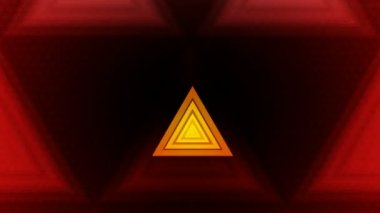 Moving colorful triangles — Stock Video