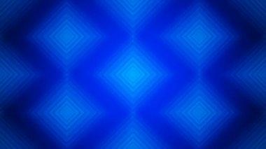 Lighting blue rhombus array — Stock Video