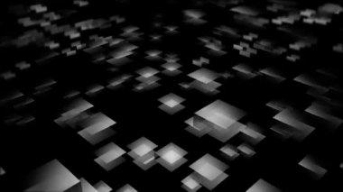 Flying white squares — Stock Video