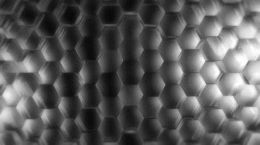 Moving hexagon array — Stock Video