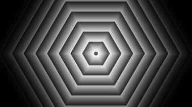 Moving luminance hexagons — Stock Video