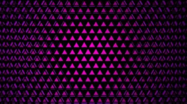 Moving purple tile of triangles — Stock Video