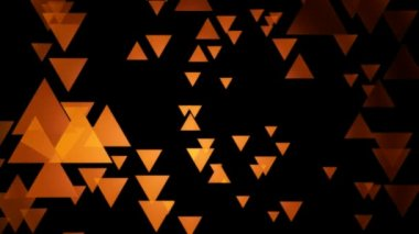 Orange triangle movement — Stock Video