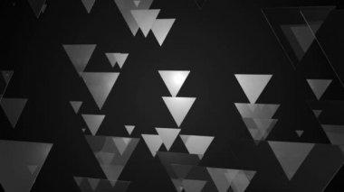White triangle movement — Stock Video
