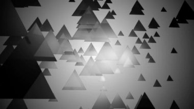 Grayscale triangle motion — Stock Video