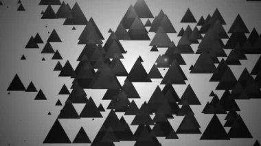 Moving spotlights triangles — Stock Video