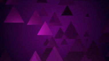 Přesun fialové trojúhelníky — Stock video