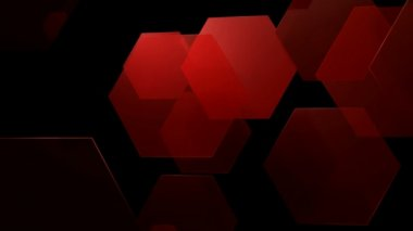 Red Hexagonal Movement — Stock Video