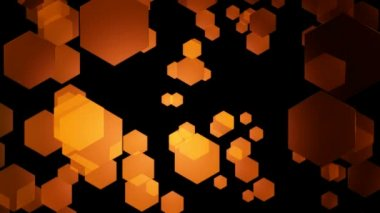 Orange Hexagonal Movement — Stock Video