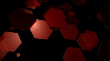 Red Hexagonal Movement — Stock Video