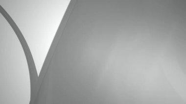 Flowing white ribbon — Stock Video