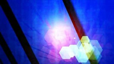 Красочные шестиугольника огни — Стоковое видео