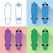 Short skateboards collection — Stock Vector